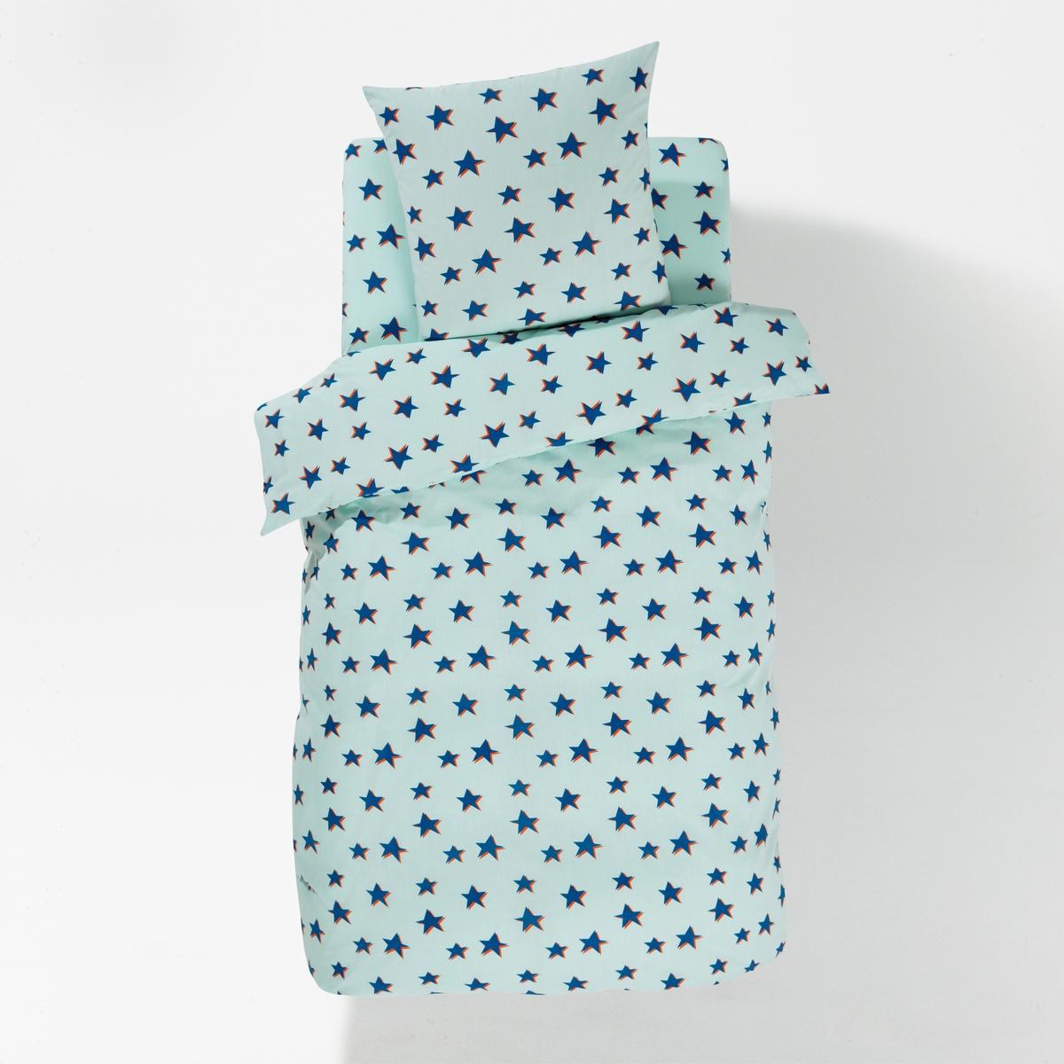 Постельное белье ?TOILESОписание постельного белья ?toiles:Пододеяльник Kyoka : сплошной принт звезды на синем фоне с обеих сторон .Прямой низ.Наволочка : 63 x 63 см, сплошной принт на синем фоне с обеих сторон.Характеристики постельного белья ?toiles:100% хлопка 47 нитей/см?. Чем больше плотность переплетения нитей/см?, тем качественнее материал.Стирка при 60°..Размеры комплекта : 140 x 200 см+ 1 наволочка 63 x 63 см200 x 200 см + 1 наволочка 63 x 63 смНайдите весь комплект постельного белья на нашем сайте<br><br>Цвет: синий/ оранжевый