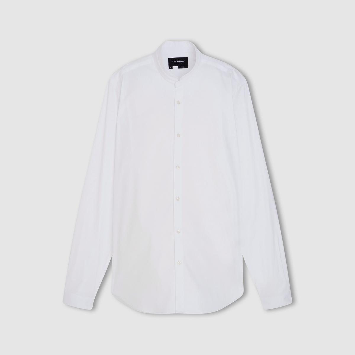 Рубашка из поплинаСостав и описание   Материал : 78% хлопка, 18% полиамида, 4% эластана     Марка : THE KOOPLES<br><br>Цвет: белый,темно-синий