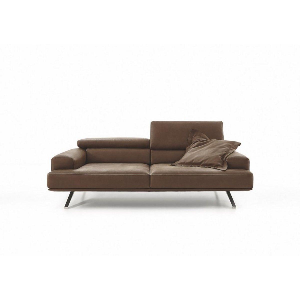 Canapé Fleur De Cuir canapé 3 places avec assise réglable en profondeur en cuir pleine fleur  temperant pm
