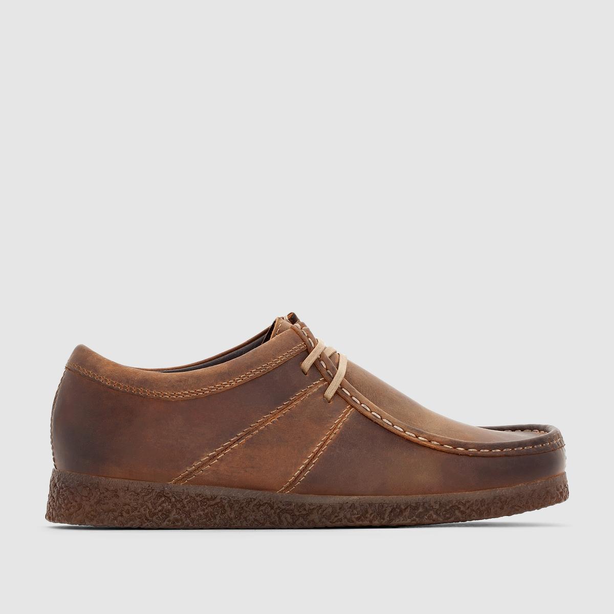 Ботинки-дерби кожаные BASE LONDON LEGACYПреимущества : ботинки-дерби BASE LONDON в стиле мокасин на шнуровке. Кожа, покрытая патиной, в замечательном стиле нео-ретро.<br><br>Цвет: темно-коричневый<br>Размер: 42