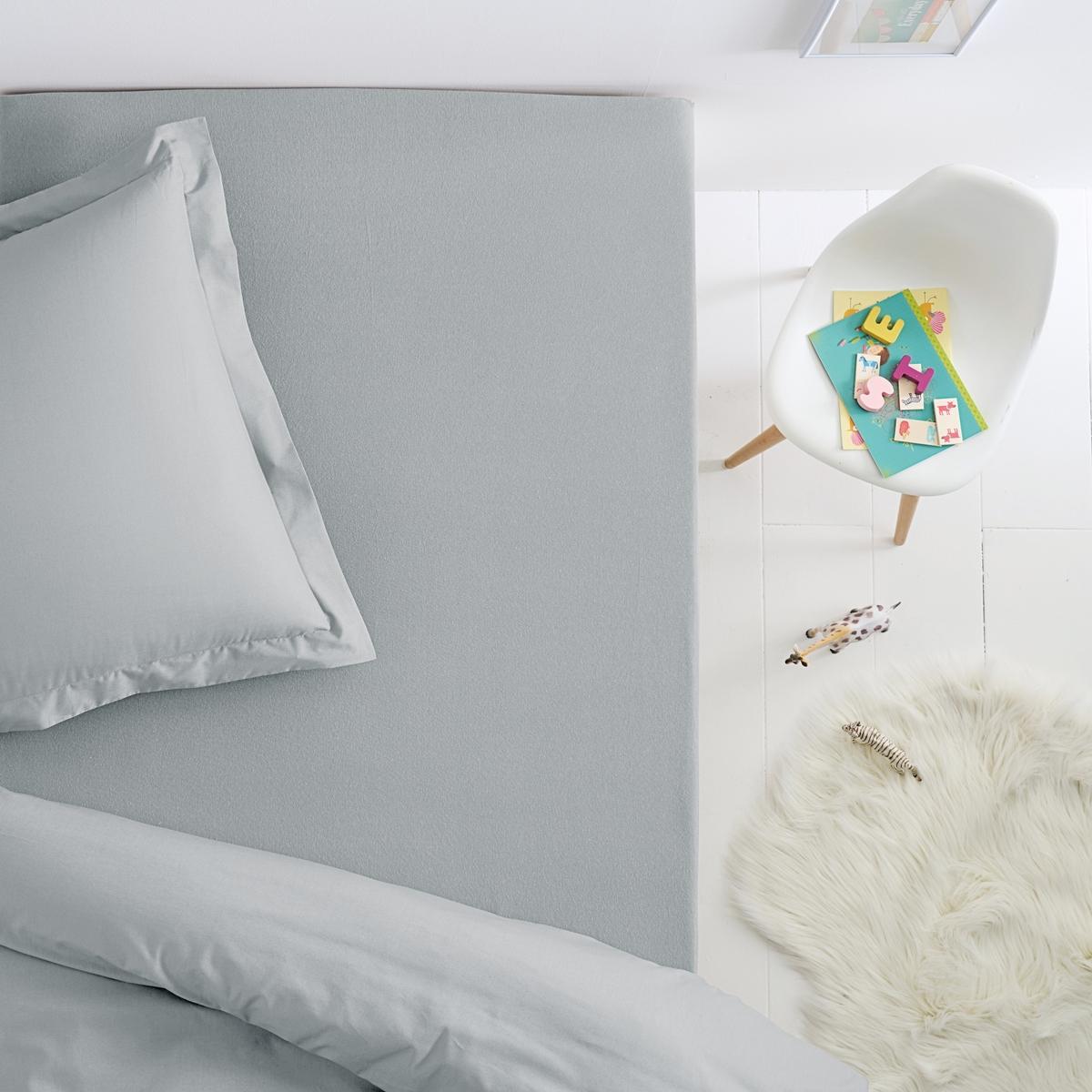 Простыня La Redoute Натяжная из джерси для детской кровати SCENARIO 90 x 190 см серый подушка для изголовья кровати 100% хлопокscenario