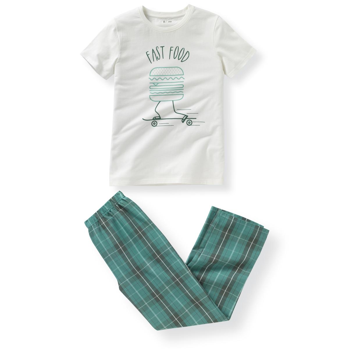 Пижама из двух материалов 10-16 лет