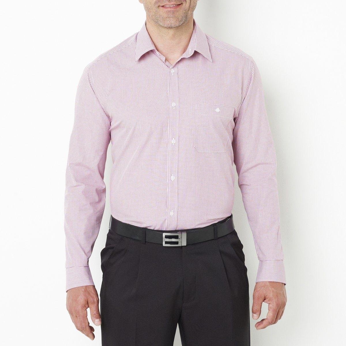 Рубашка, рост 1Товар из коллекции больших размеров. Красивый поплин, 100% хлопка. Складка сзади. Длинные рукава. Рост 1: на рост до 176 см. Длина 80 см. Длина рукавов 62 см. См.таблицу размеров Taillissime.<br><br>Цвет: в клетку антрацит/синий,в клетку малиновый<br>Размер: 53/54.53/54