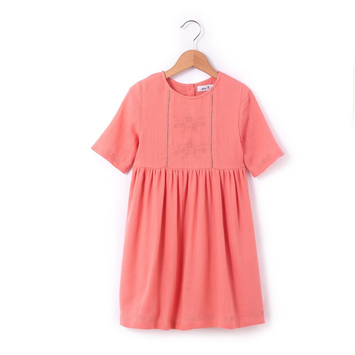 Платье с вышивкой в стиле фолк,  3-12 лет