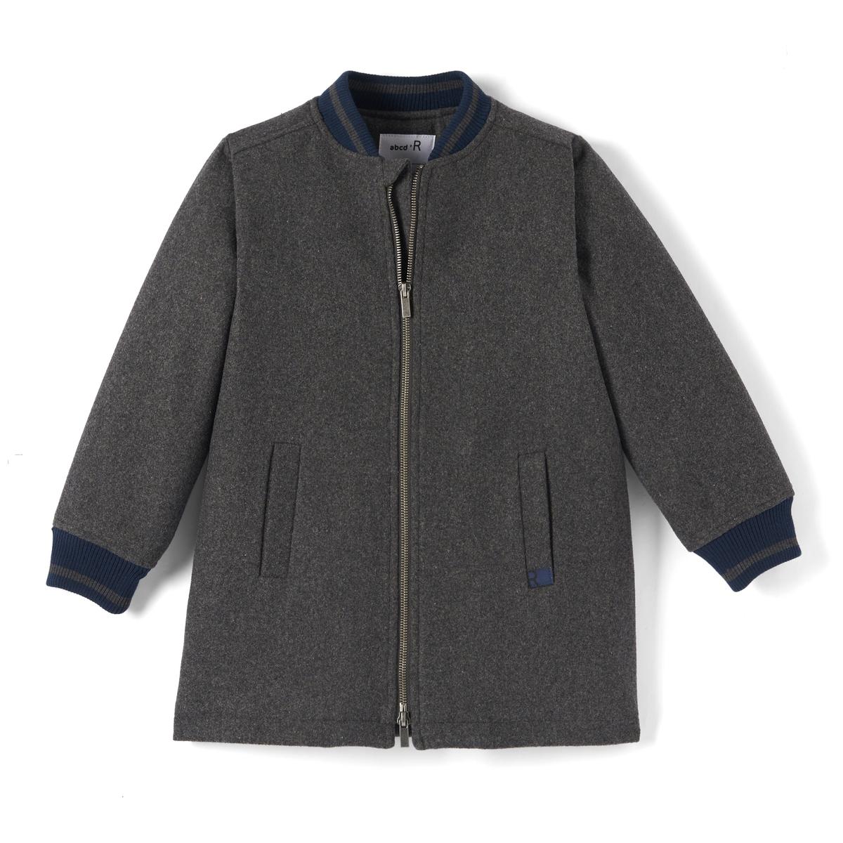 Блузон тедди удлиненный из шерстяного драпа  3-12 лет блузон с капюшоном в стиле тедди 3 12 лет