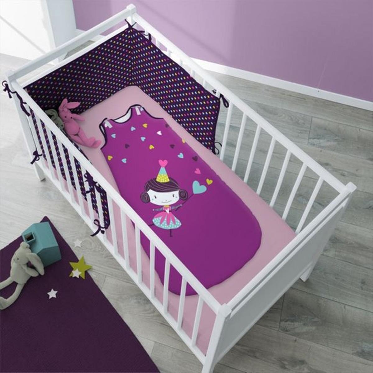 Turbulette fée violette en coton pour enfant - Prunette