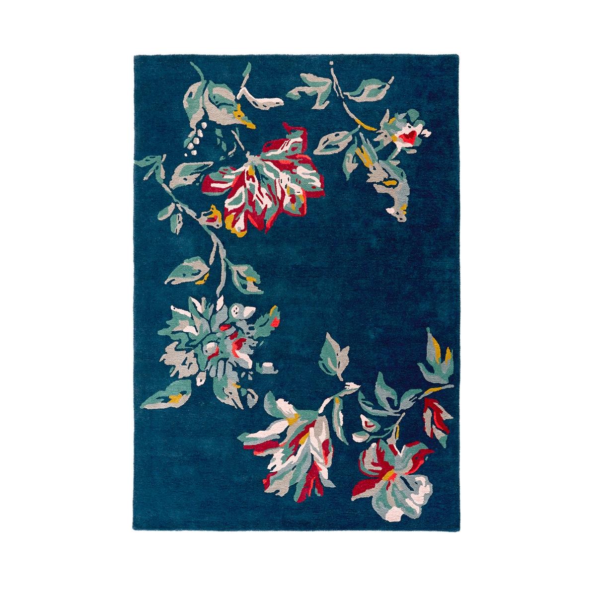 Ковер La Redoute С цветочным рисунком Elva 120 x 170 см синий