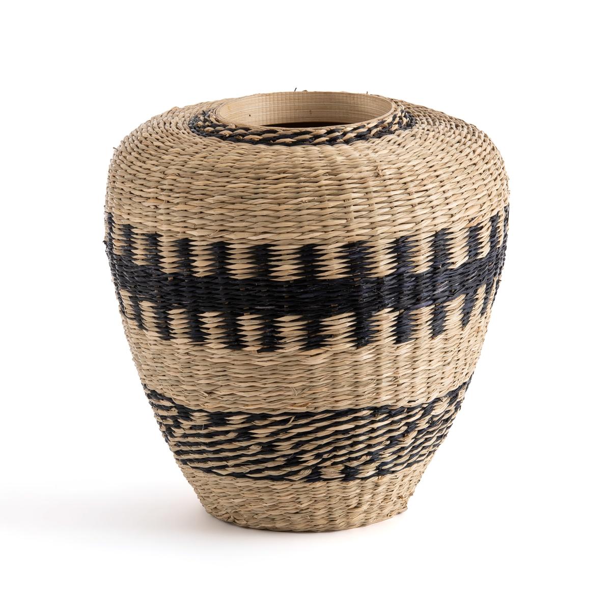 Ваза La Redoute Декоративная из гербария и бамбука Plooming единый размер бежевый ваза декоративная glass moon сфера white 38 см афина