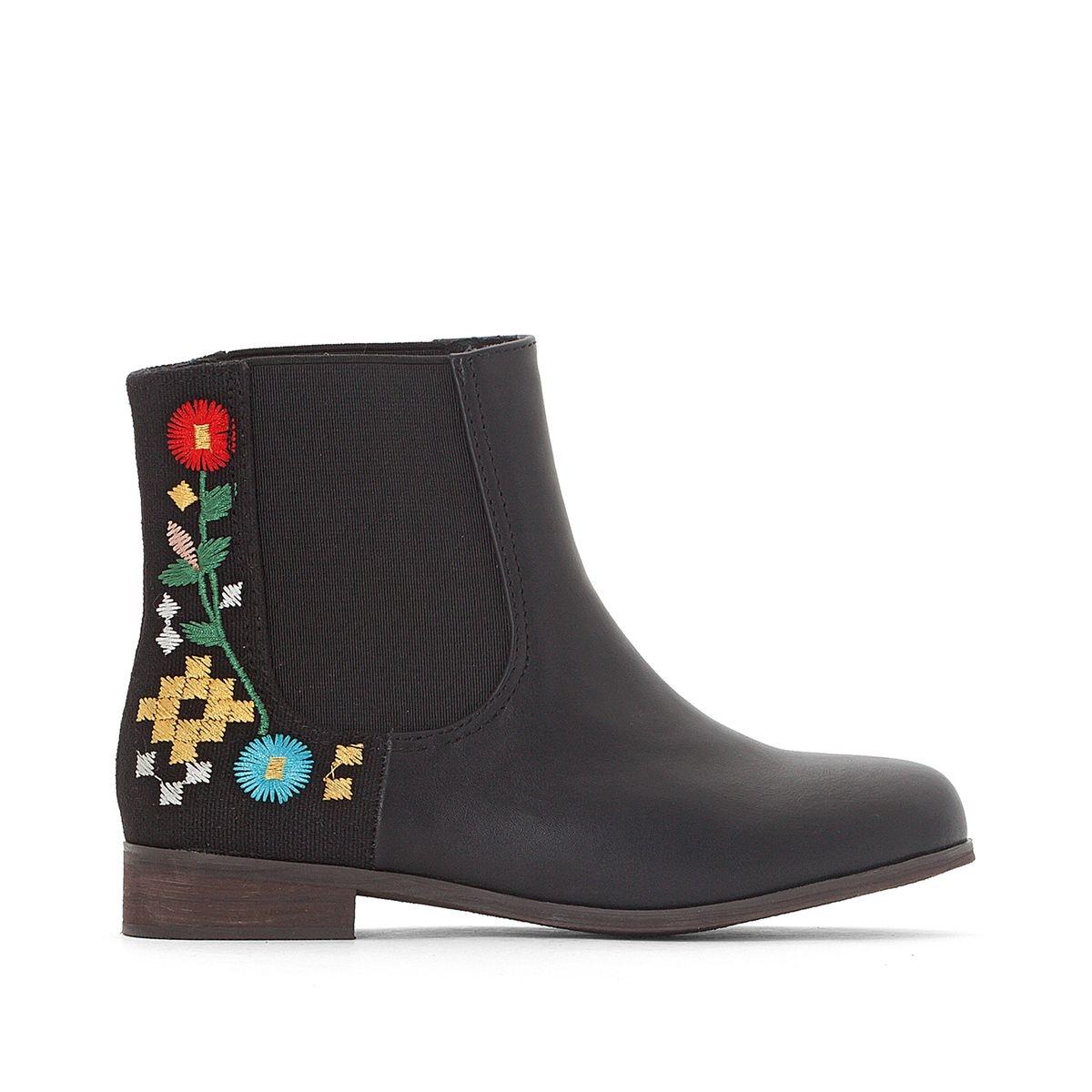 Boots fleurs brodées 28-39