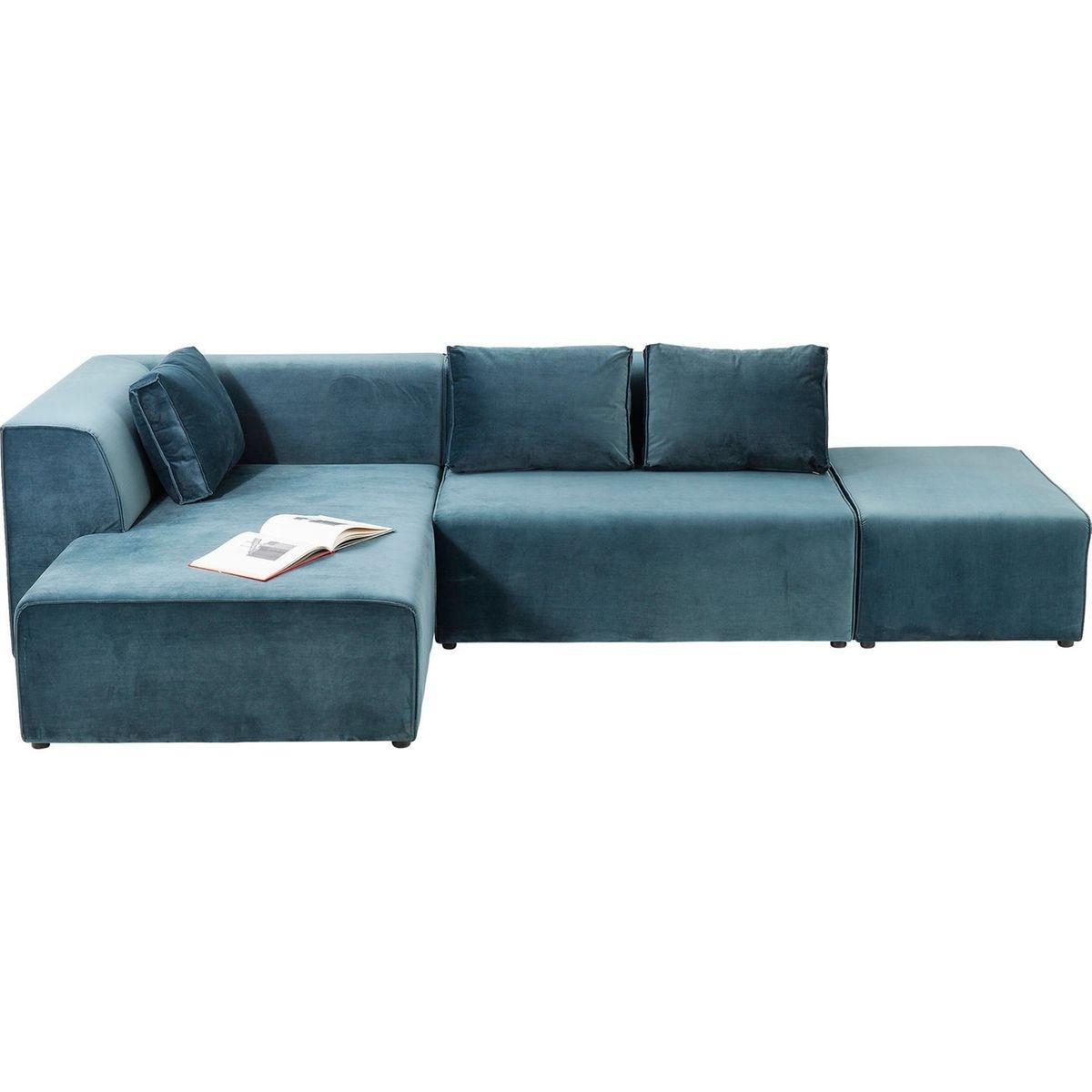 canapé d'angle Infinity velours gauche Kare Design