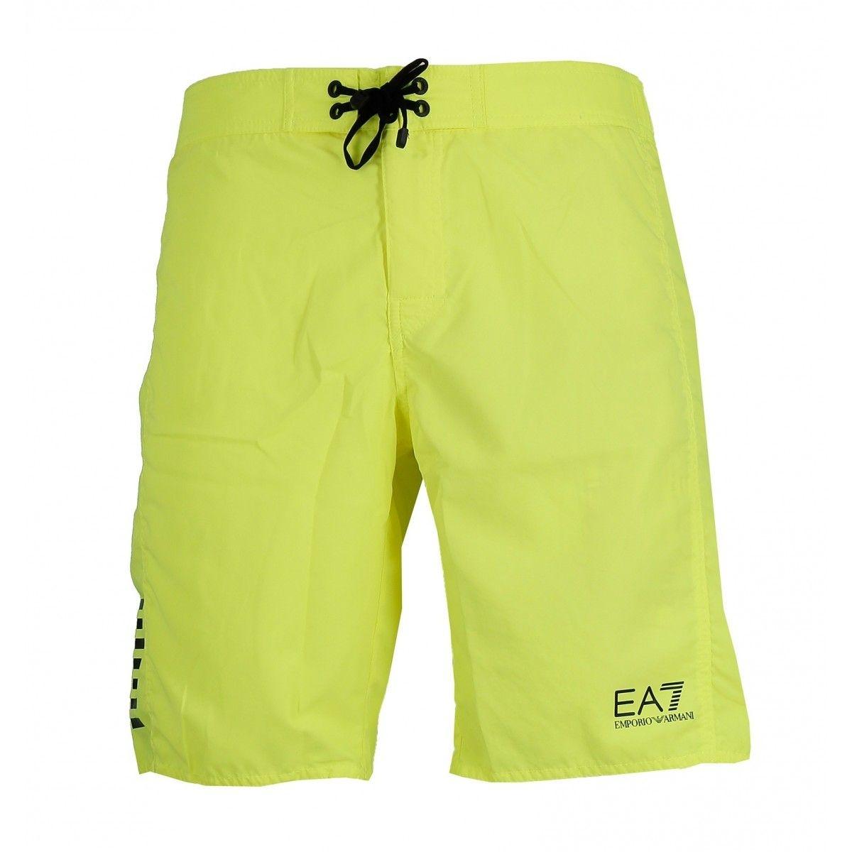 Short de bain EA7 Emporio Armani (Jaune)