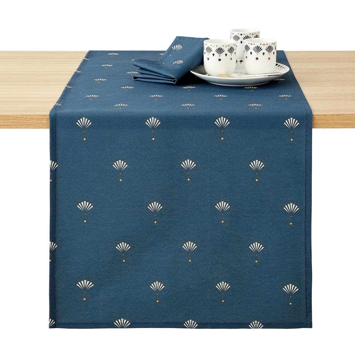 цена Дорожка La Redoute Столовая ventail Bleu 45 x 150 см синий онлайн в 2017 году