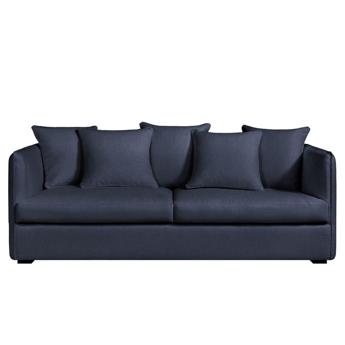 canap fixe neo chiquito coton lin. Black Bedroom Furniture Sets. Home Design Ideas
