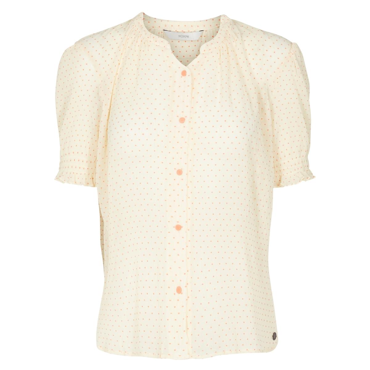 Рубашка прямого покроя с круглым вырезом, рисунком и короткими рукавами цена 2017