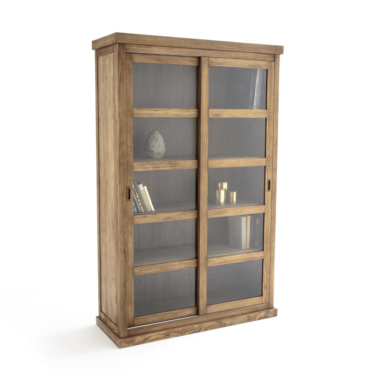 Шкаф книжный с 2 раздвижными дверцами LUNJA