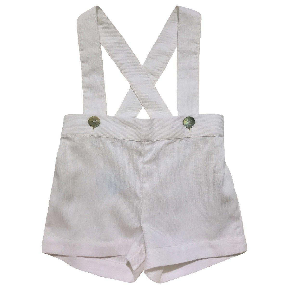 Culotte courte à bretelles en coton