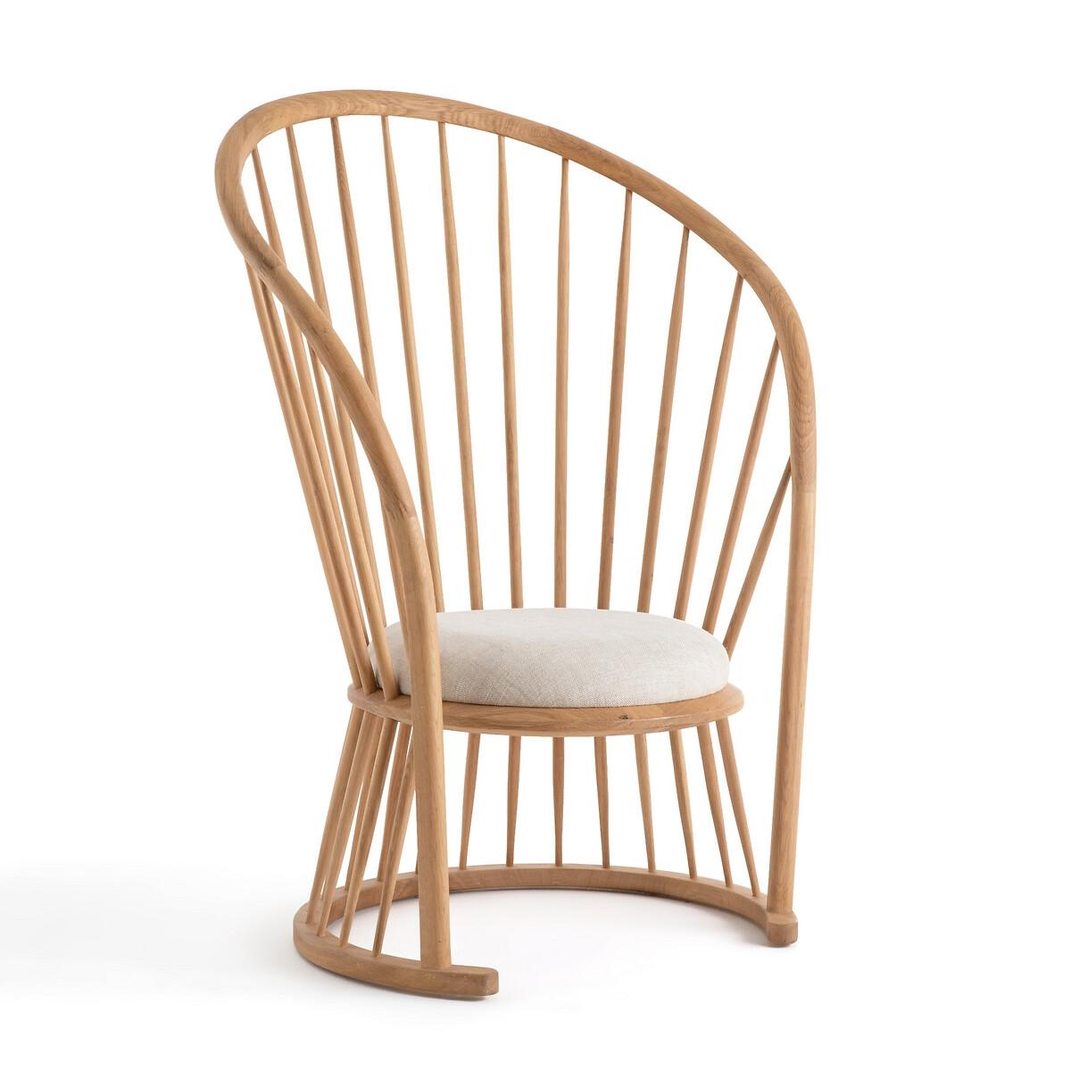 Кресло LaRedoute Raggi высокое натуральный дизайн Э Галлина единый размер бежевый
