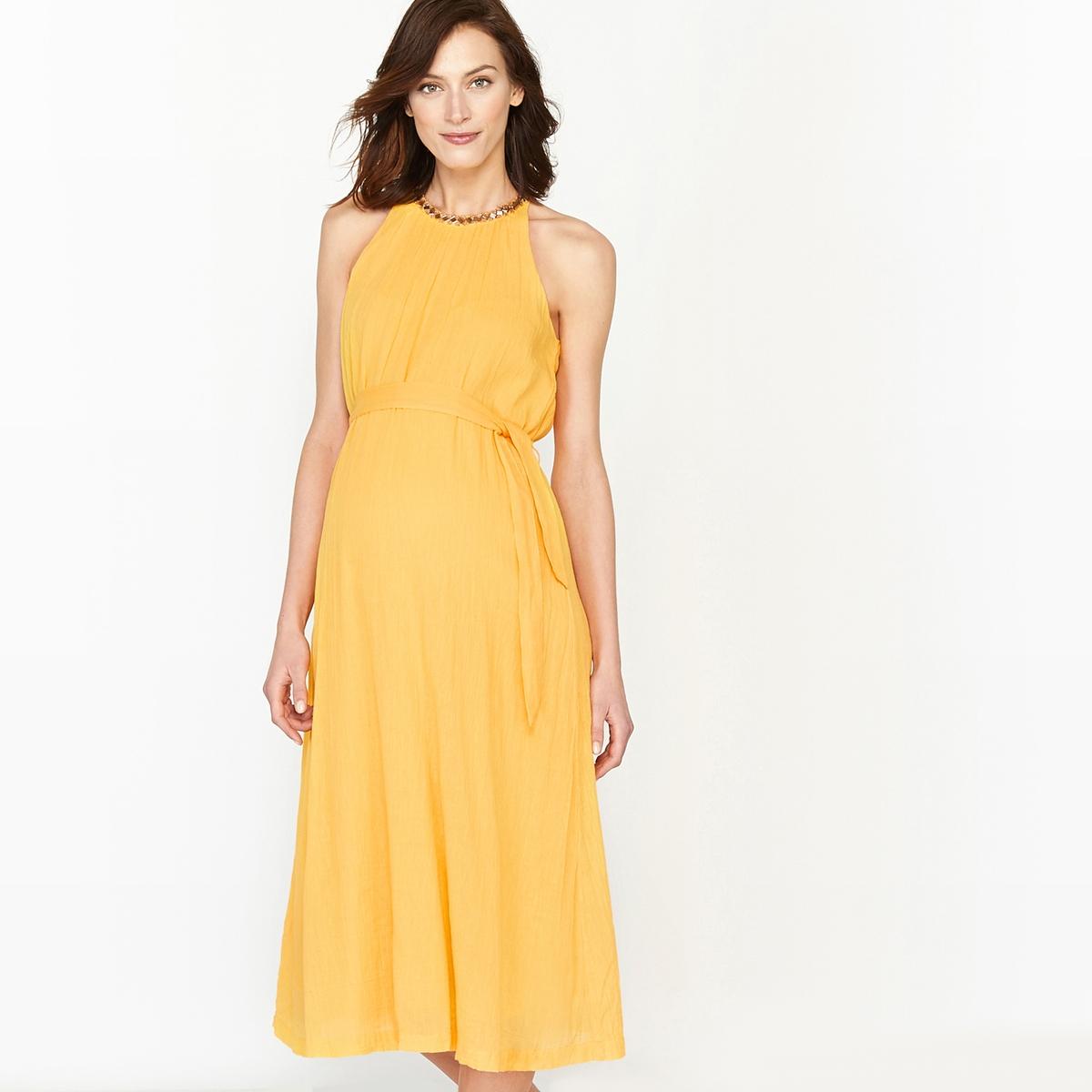 Платье праздничное для периода беременности с блестящими вставками