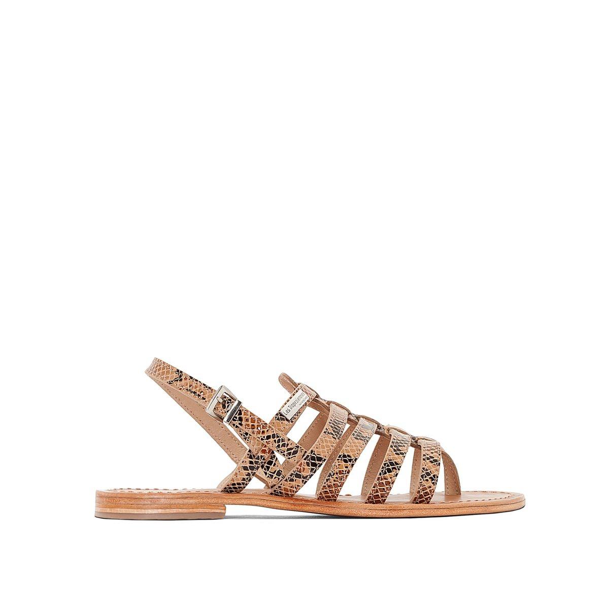 Sandales cuir entre-doigts Herisson