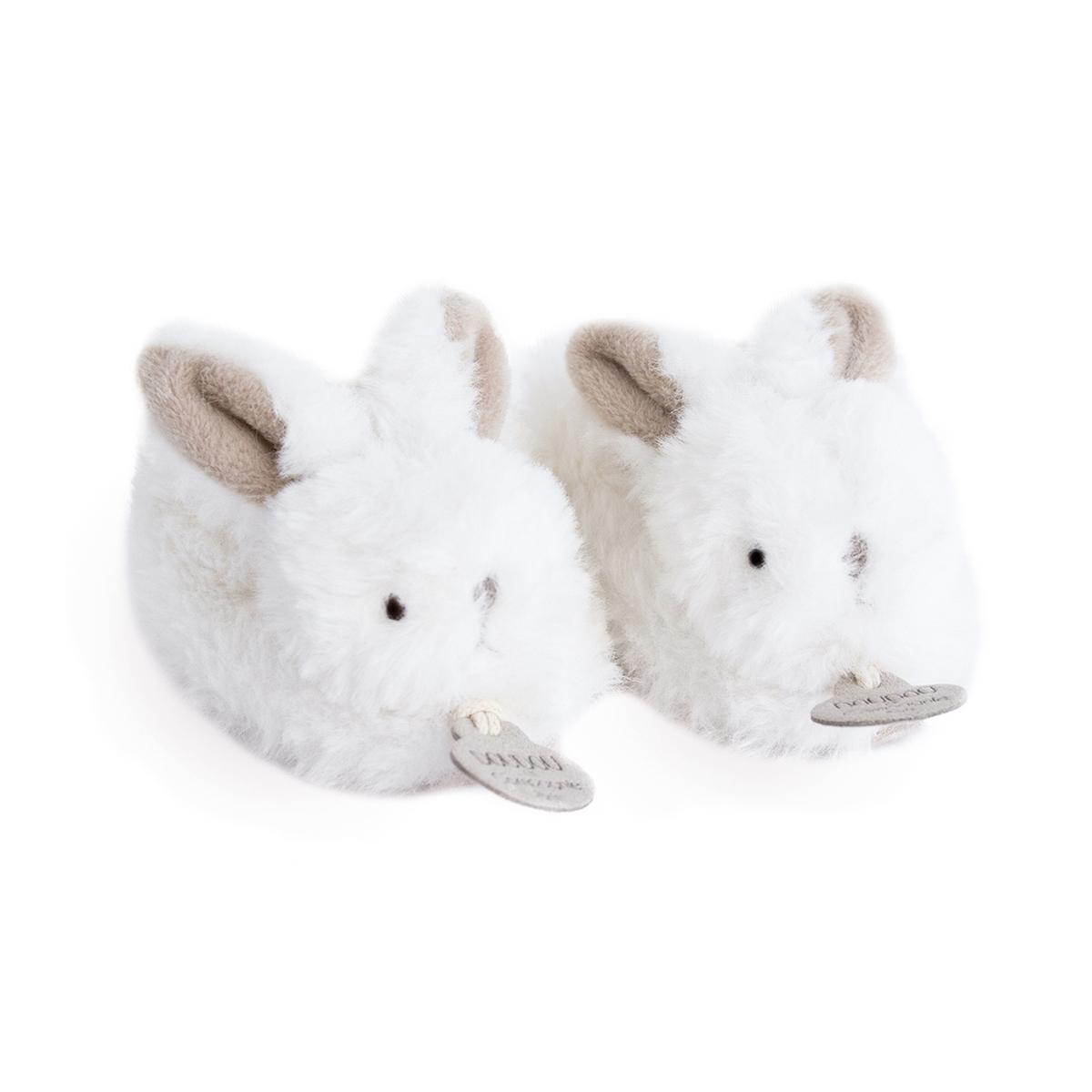 "An image of Doudou Et Compagnie My Little ""bonbon"" Rabbit Bootees"