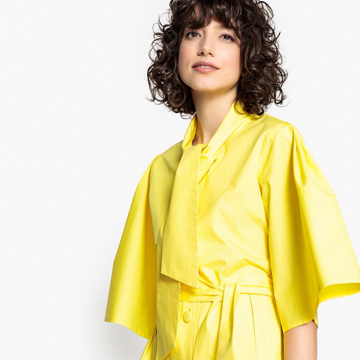 Жакет La Redoute С поясом с завязками рукава по локоть 36 (FR) - 42 (RUS) желтый платье la redoute радужное estelle 36 fr 42 rus черный