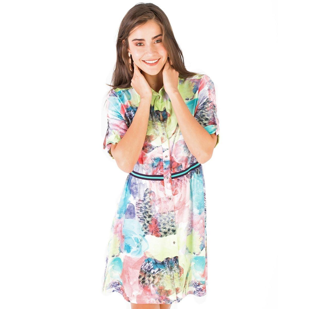Robe style chemise avec détail à la taille