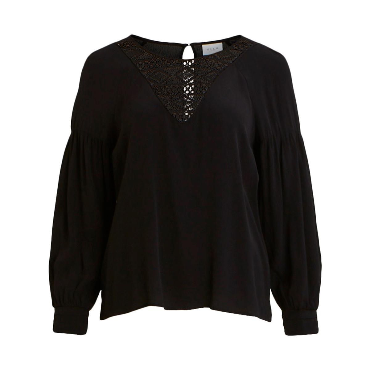 Блузка La Redoute С кружевной вставкой и вырезом-капля 38 (FR) - 44 (RUS) черный платье la redoute радужное estelle 36 fr 42 rus черный