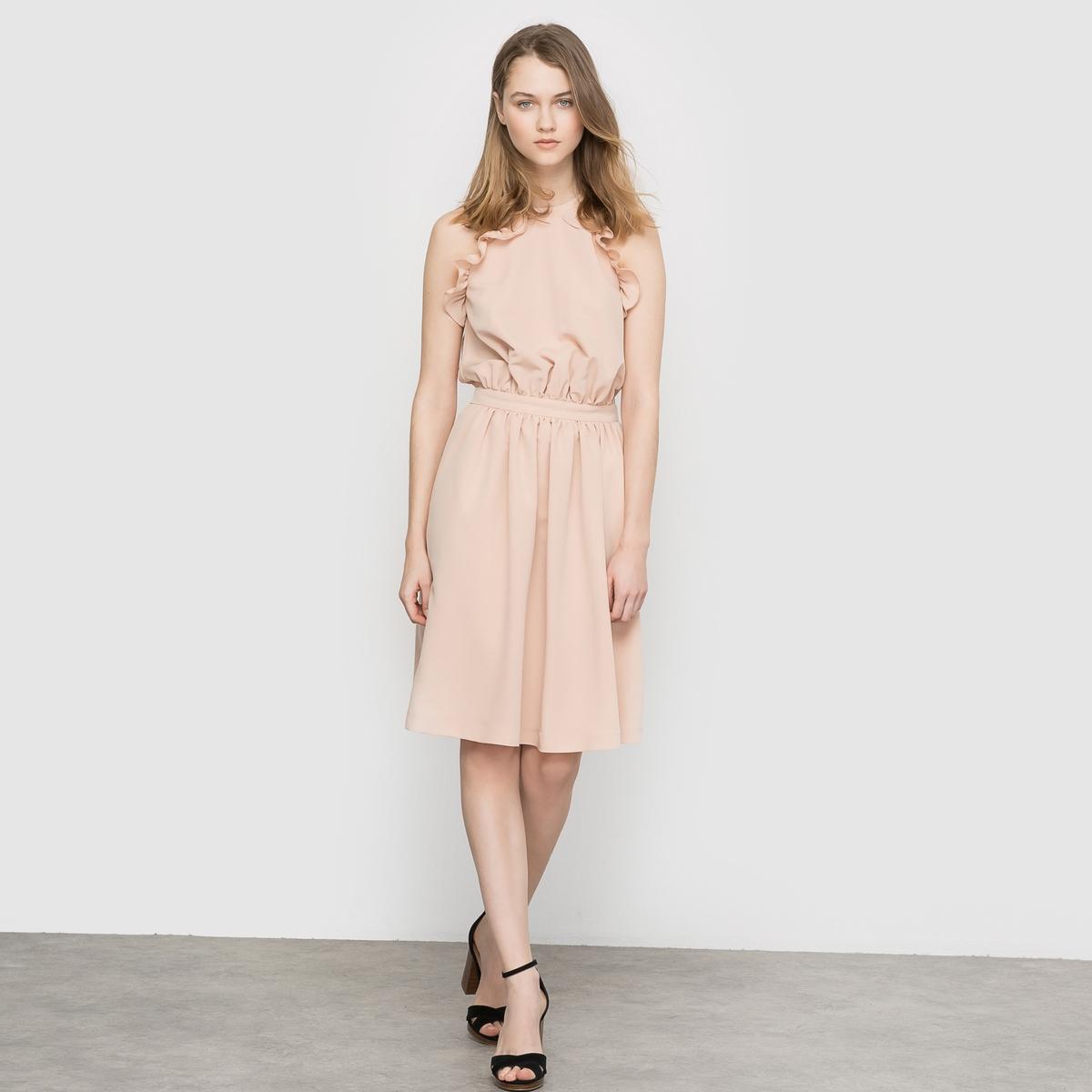 Платье коктейльное платье сзади с воланами запорожье