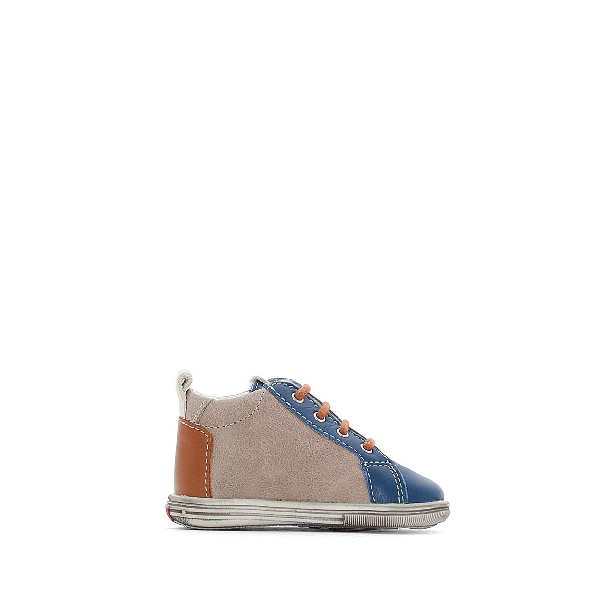 Ботинки из кожи ZALFA bopy bopy сапоги утепленные синие