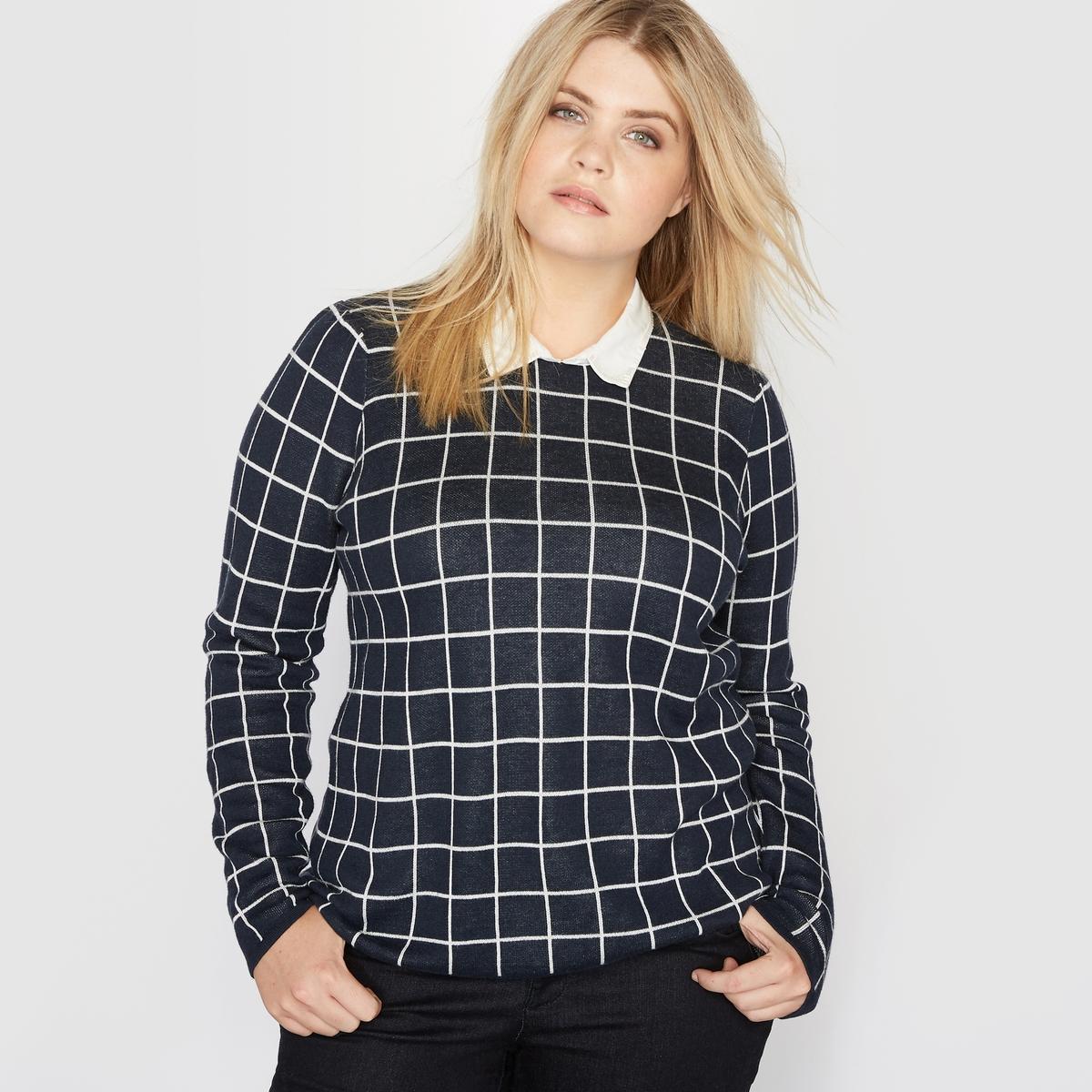 Пуловер с рубашечным воротником