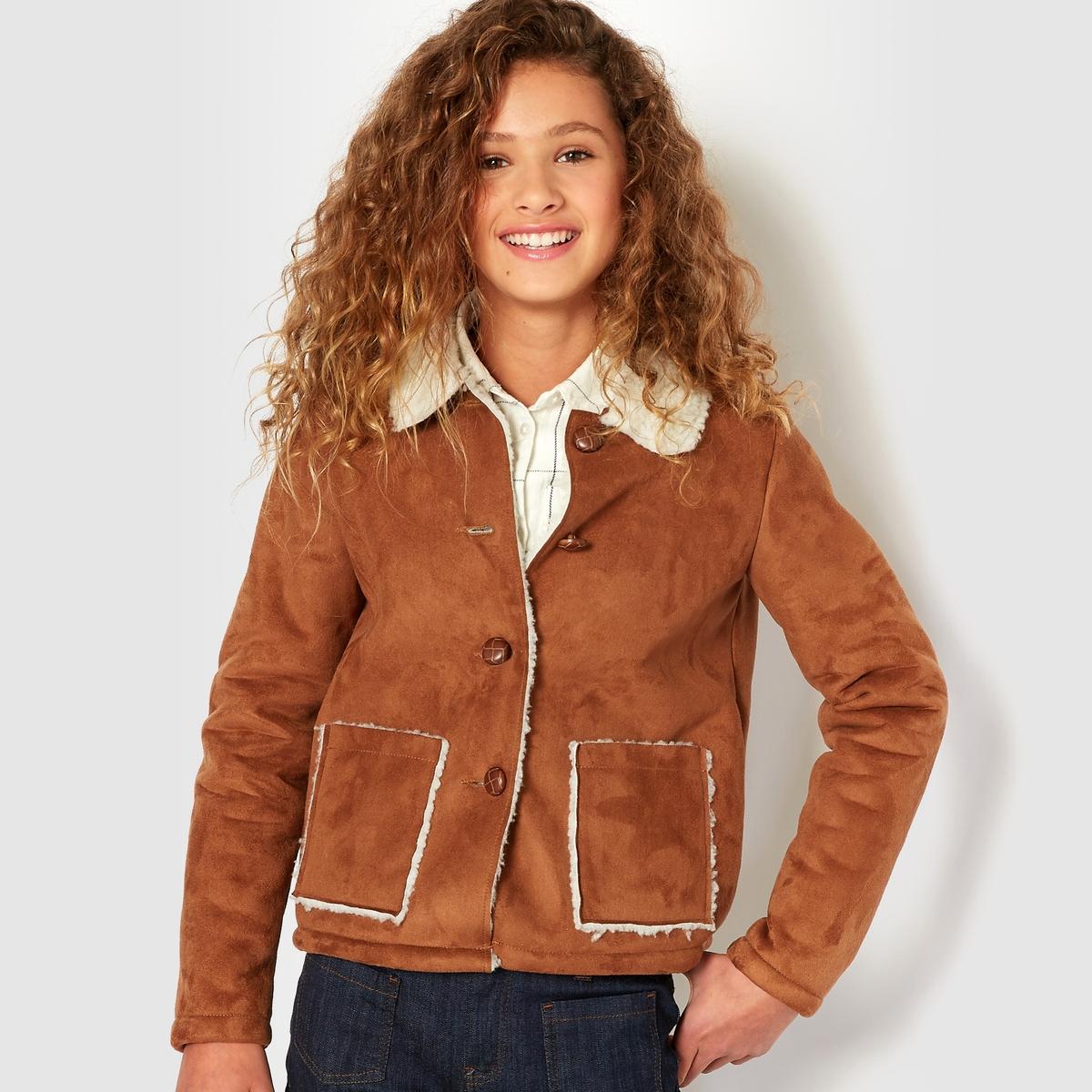 Пальто из искусственной кожи на 10-16 лет