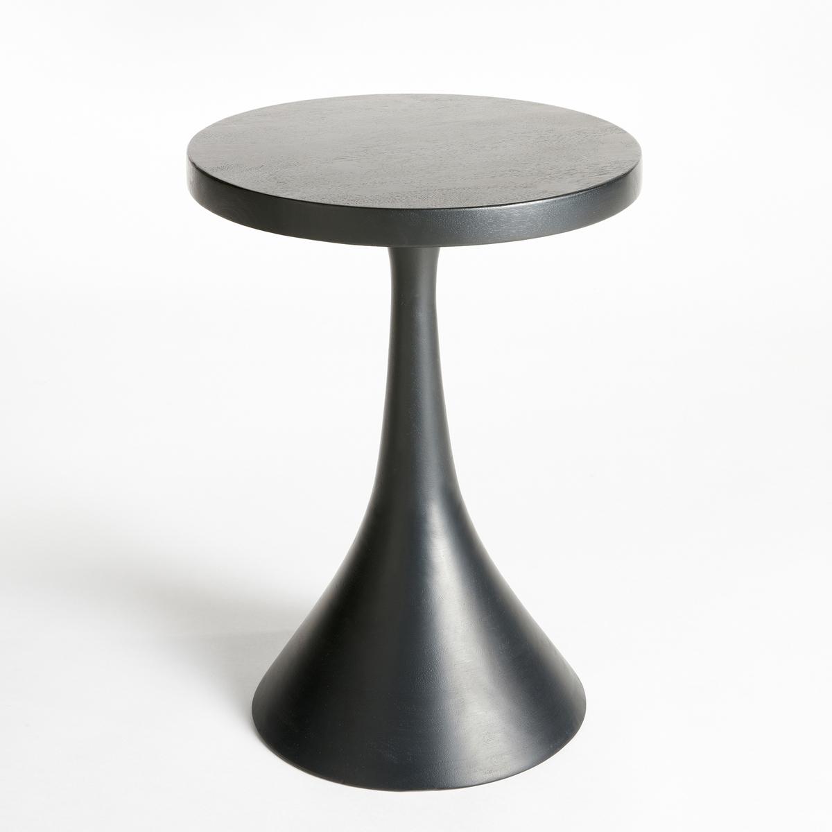 Столик диванный BogramДиванный столик Bogram. Можно использовать отдельно или в сочетании с другими моделями из нашей коллекции, которые продаются на нашем сайте. Характеристики :- Из мангового дерева черного цвета .Размеры :- диаметр 35 x высота 50 см.<br><br>Цвет: черный