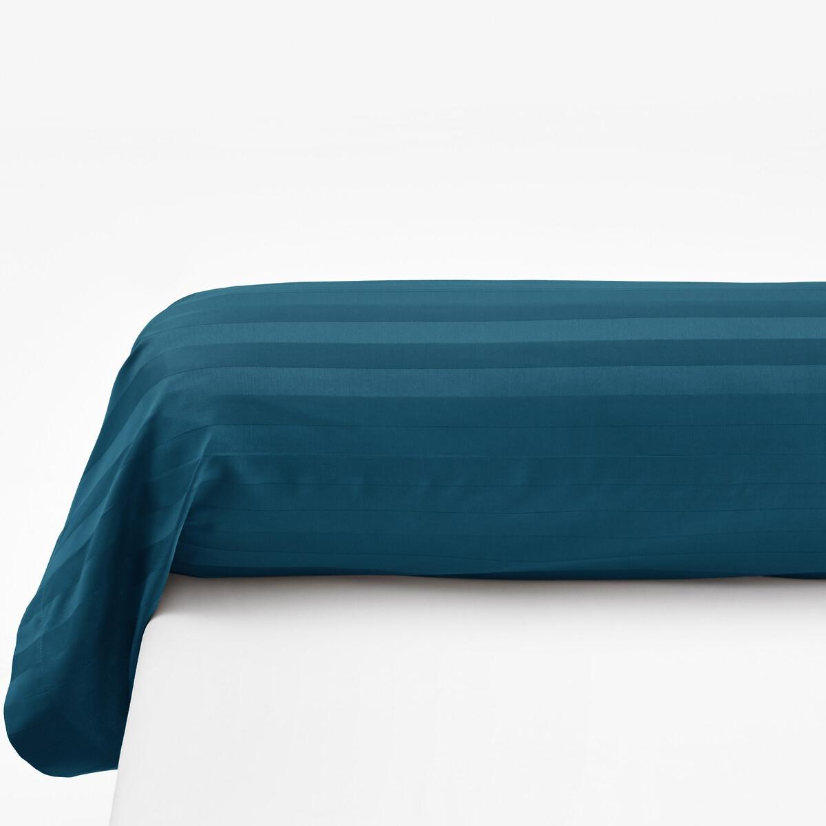 наволочки на подушку и наволочка на подушку валик из хлопка richmond Наволочка LaRedoute На подушку-валик из хлопкового сатина в полоску 85 x 185 см синий