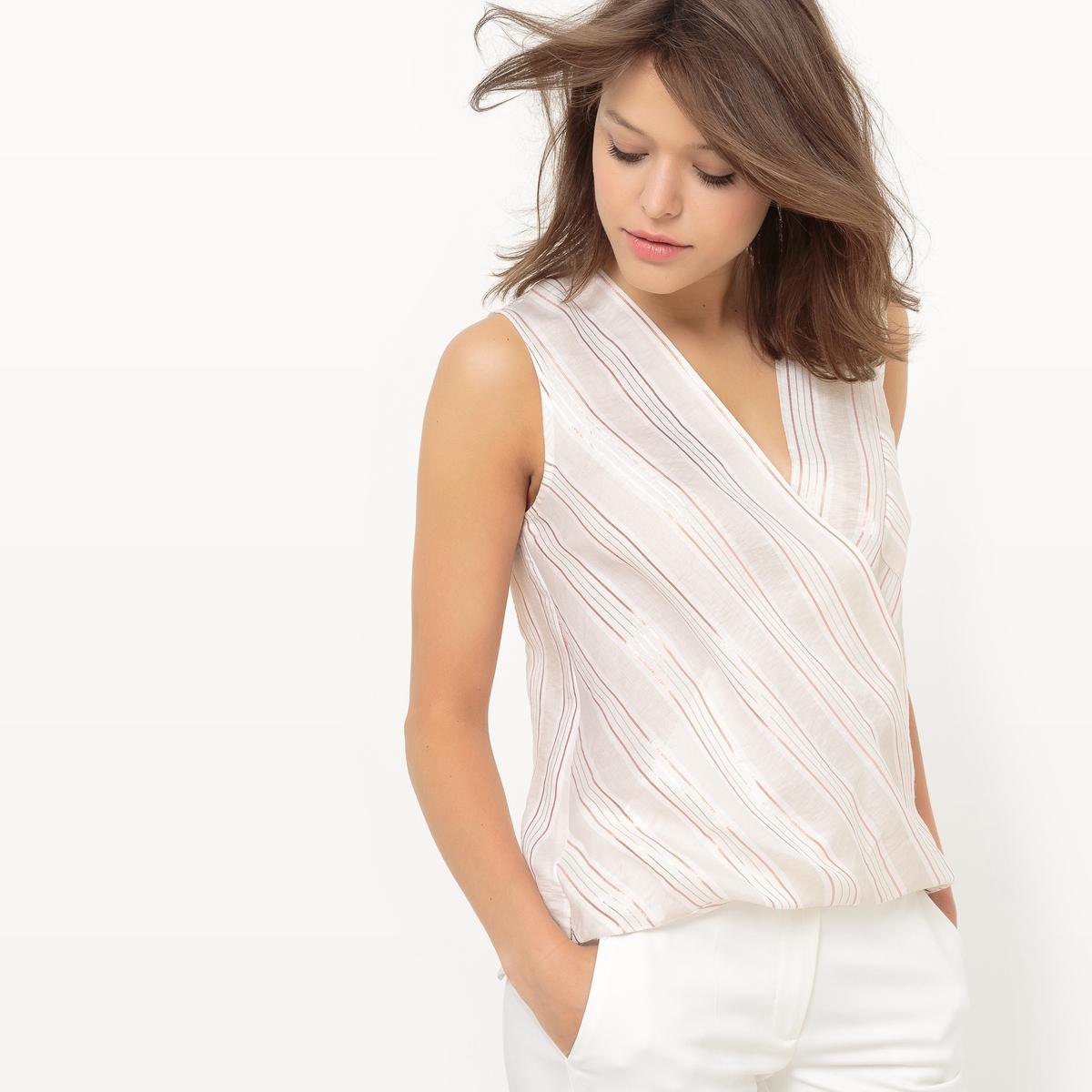 Блузка с запахом с рисунком