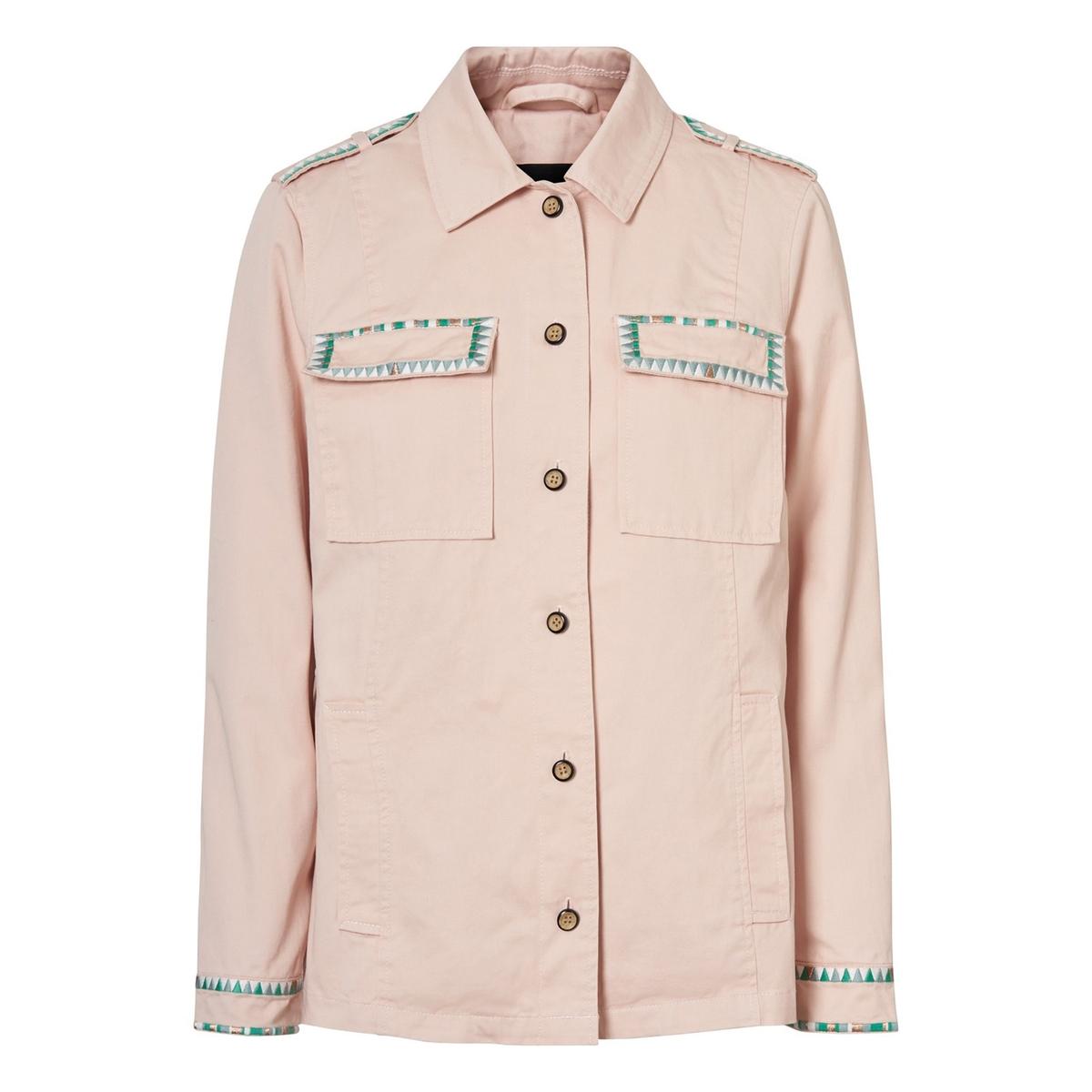 цена Жакет-рубашка La Redoute Прямого покроя M розовый онлайн в 2017 году