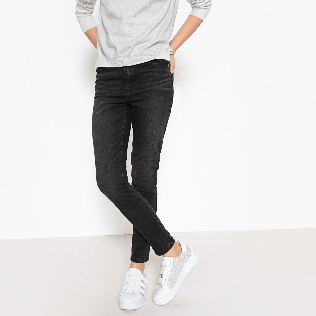 Джинсы узкого покроя с завышенной талией 10-16 лет джинсы узкие скинни с вышивкой для 10 16 лет