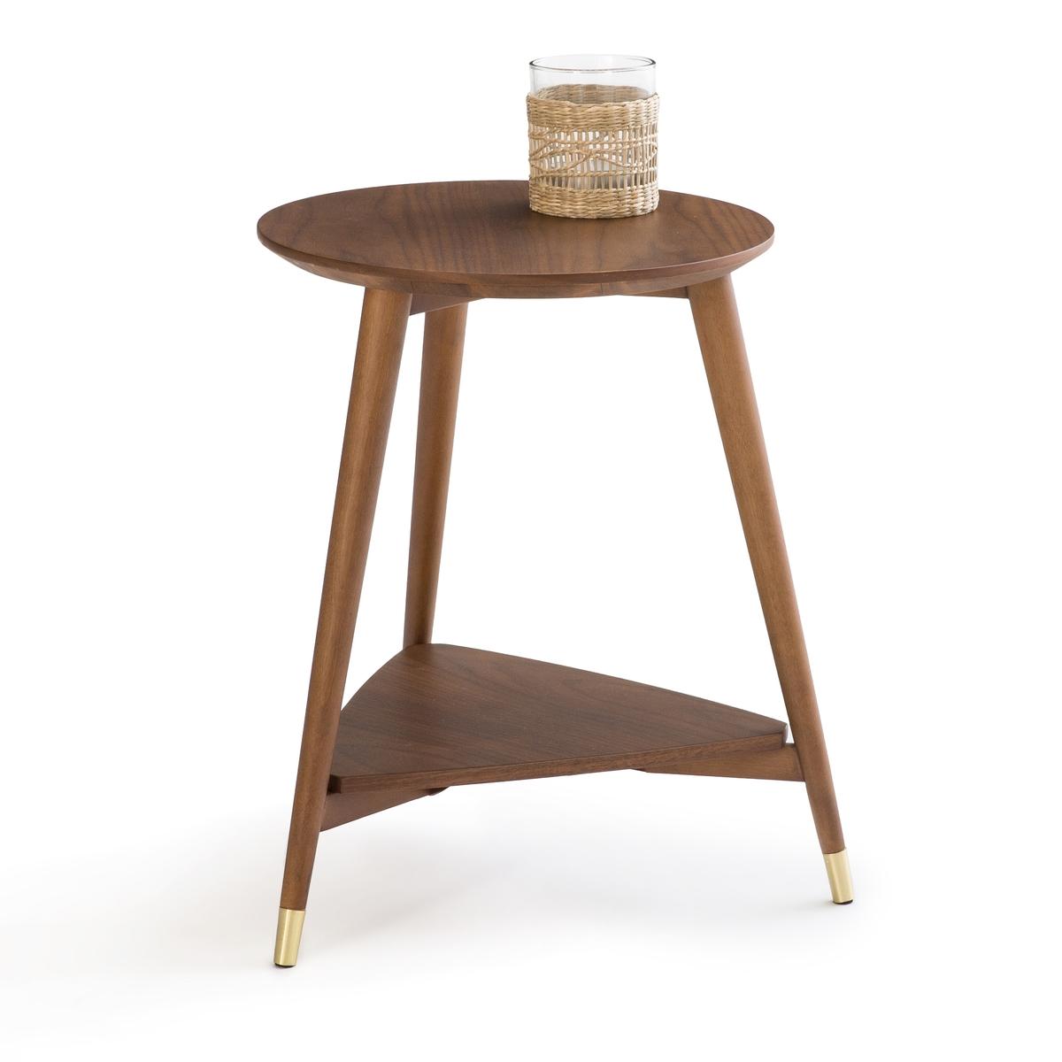 Фото - Столик LaRedoute В винтажном стиле Watford единый размер каштановый прикроватный la redoute столик в стиле винтаж watford единый размер каштановый