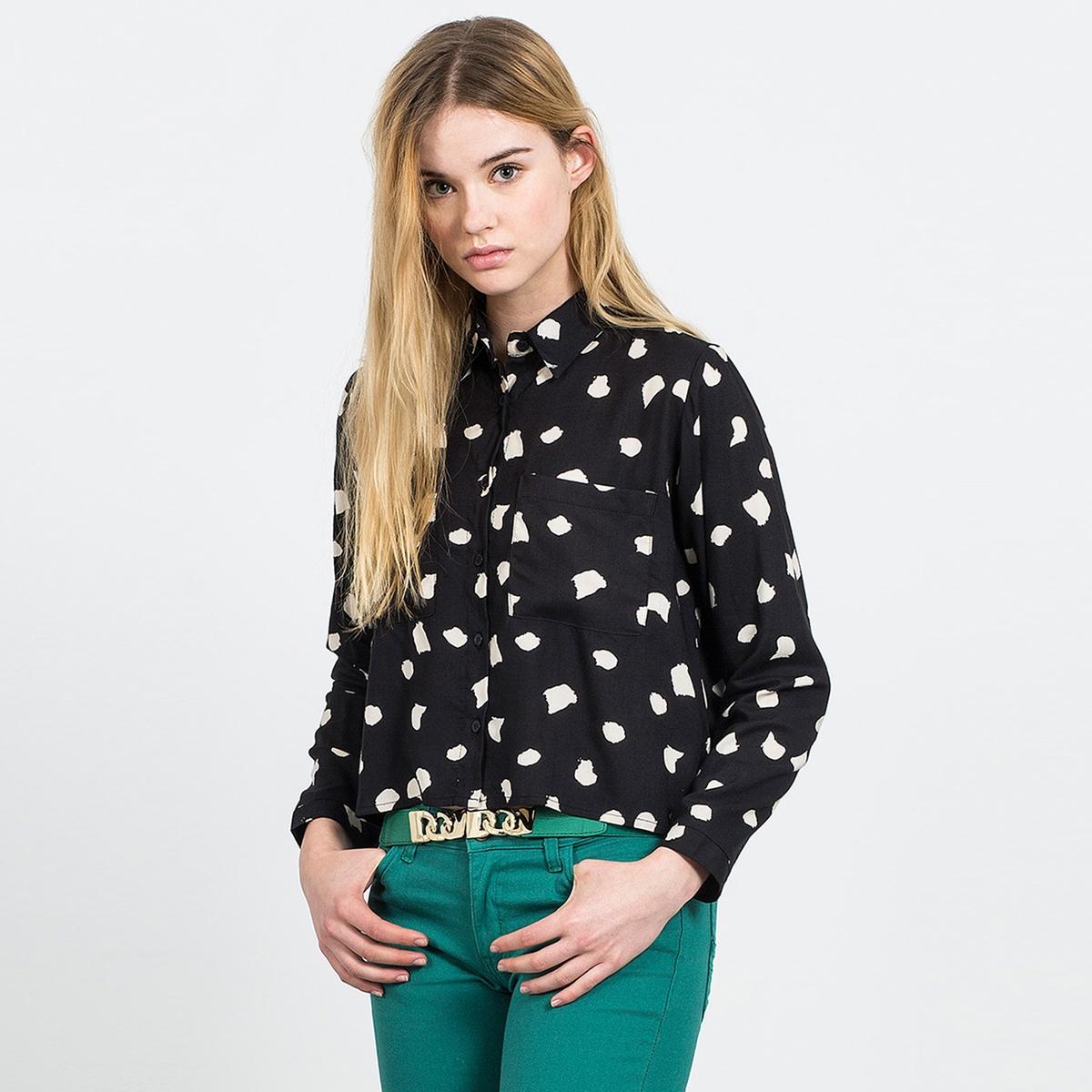 Рубашка с оригинальным рисунком  CRUELLA DE VIL BLACK TOPСостав и описание:Материал: 100% вискозыМарка: COMPANIA FANTASTICA.УходСтирать при 30° с вещами схожих цветовСтирать и гладить с изнаночной стороны<br><br>Цвет: черный<br>Размер: XL