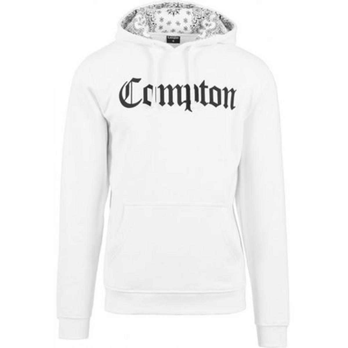 Sweat Capuche Compton Blanc x Mister Tee Capuche Bandana