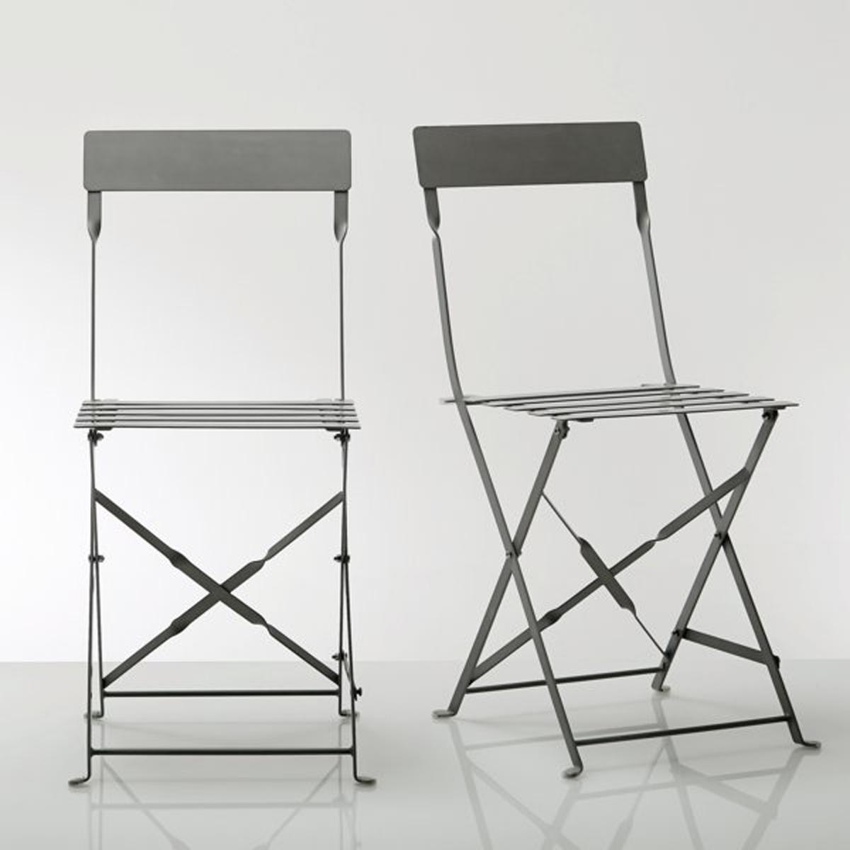 2 стула складных из металла от La Redoute