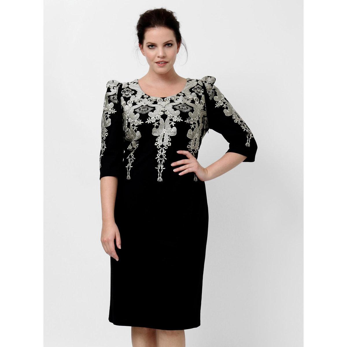 Платье длинноеПлатье с рукавами 3/4 KOKO BY KOKO. Рисунок вверху. Длина ок. 105 см.. 100% полиэстера<br><br>Цвет: черный