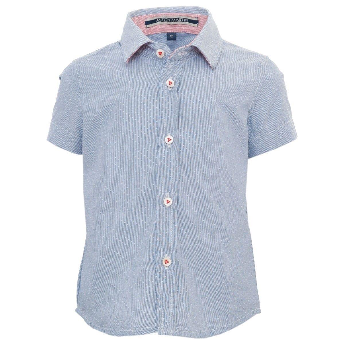 Chemise manches courtes bleue