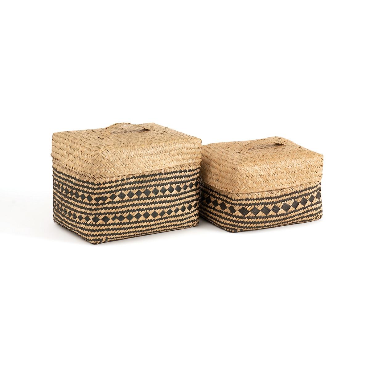 Комплект из 2 корзин, Kotak LaRedoute La Redoute единый размер бежевый бейсболка laredoute la redoute единый размер синий