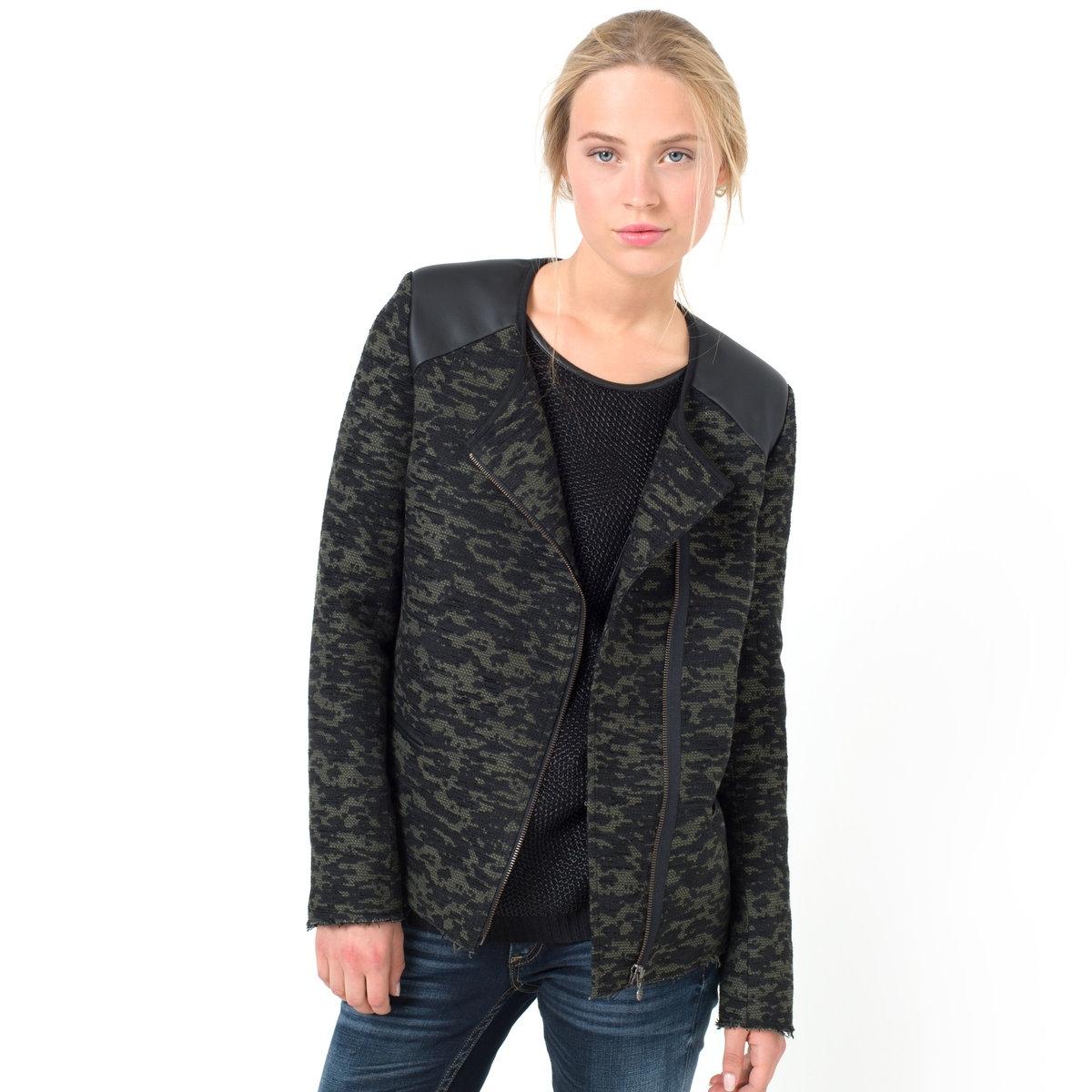 Casaco LOLITA jacquard tweed camuflagem