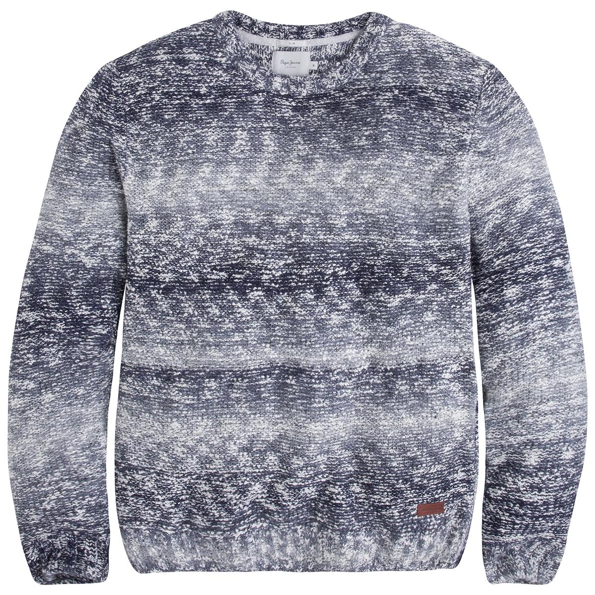 Пуловер из тонкого трикотажаДетали  •  Длинные рукава  •  Круглый вырез •  Тонкий трикотаж  •  Жаккардовый рисунок Состав и уход  •  10% акрила, 90% хлопка •  Следуйте советам по уходу, указанным на этикетке<br><br>Цвет: синий<br>Размер: XL