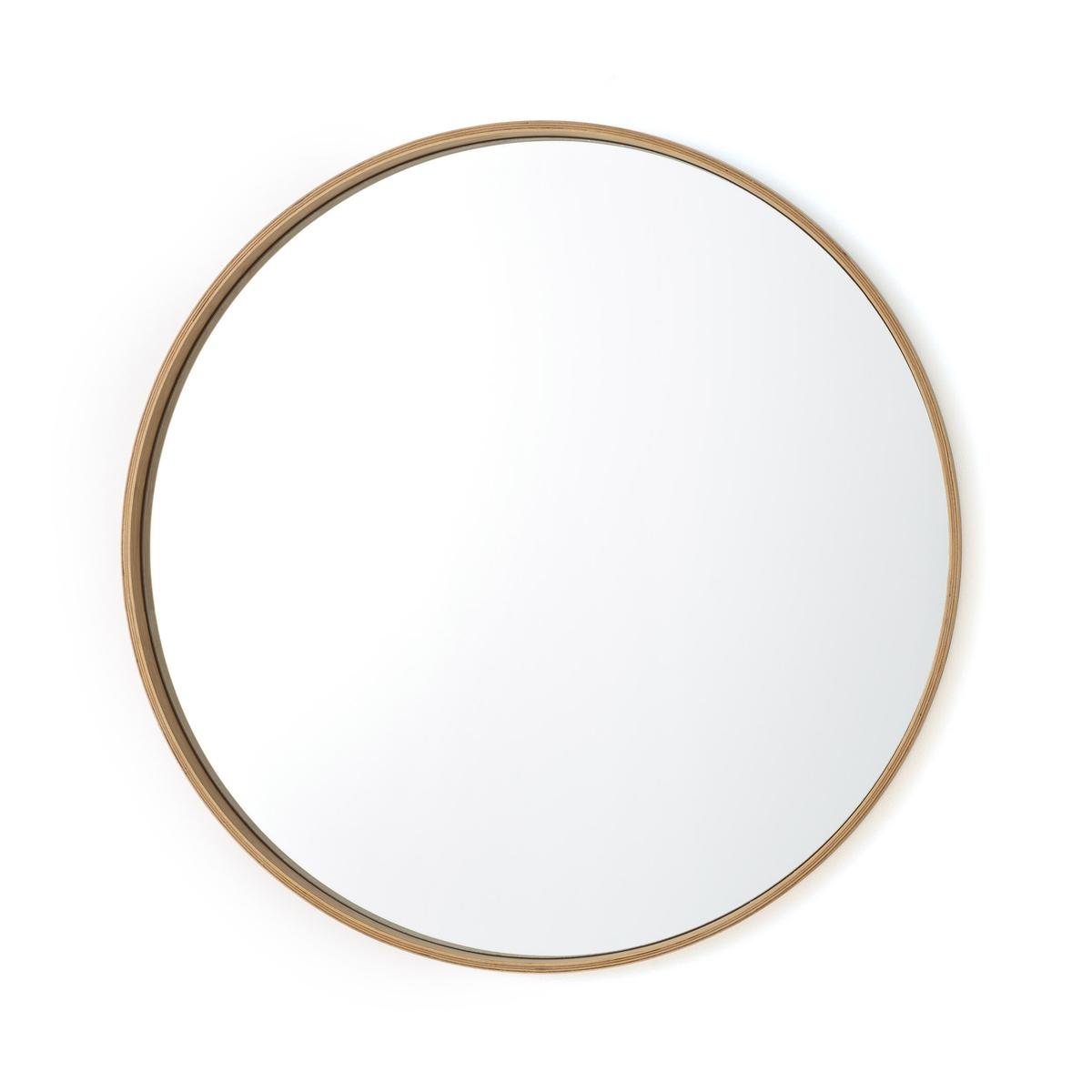 Зеркало La Redoute Круглое с отделкой из дуба ALARIA единый размер каштановый зеркало круглое alaria