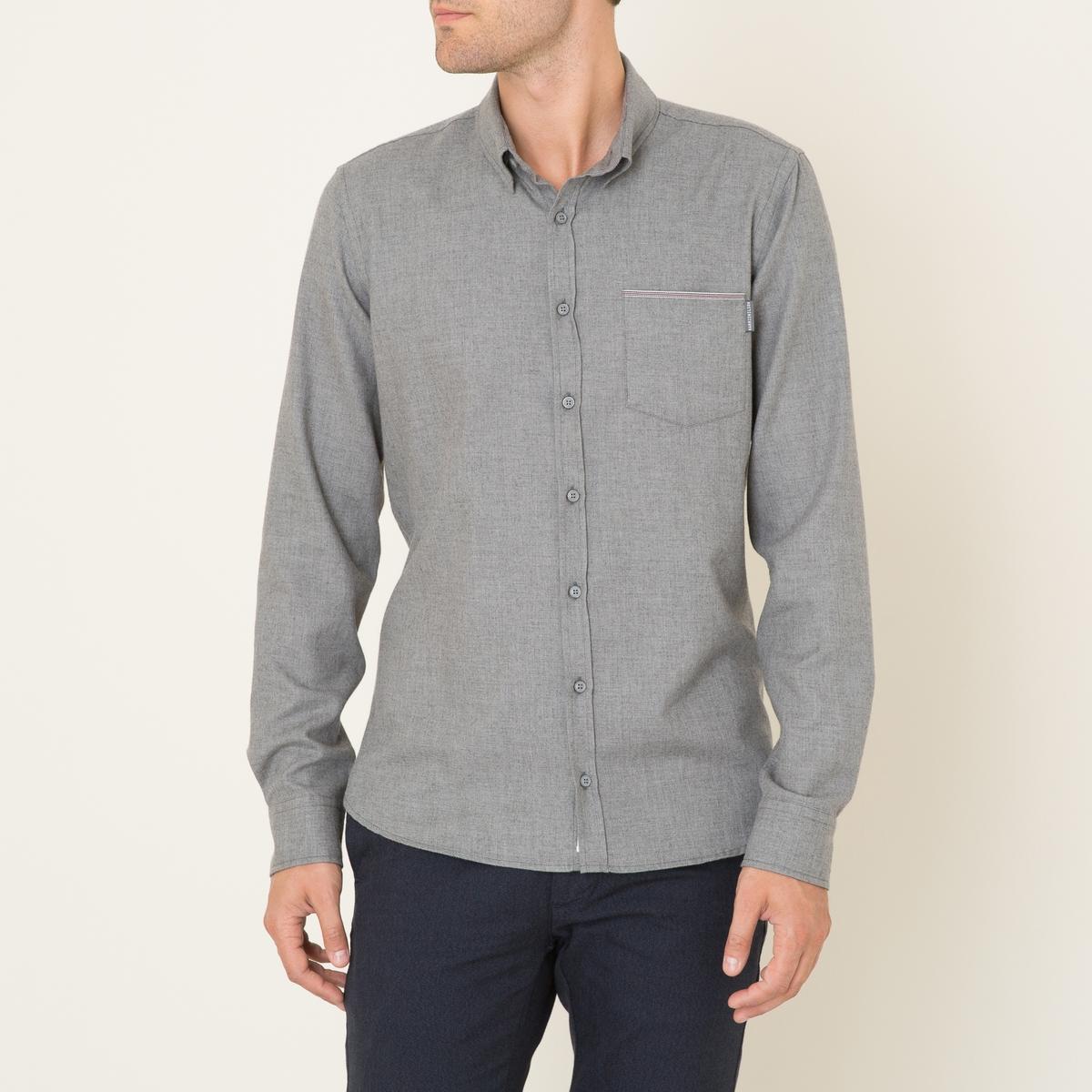 Рубашка OCTAVEСостав и описание Материал : 80% хлопка, 20% шерстиМарка : HARRIS WILSON<br><br>Цвет: серый,темно-синий