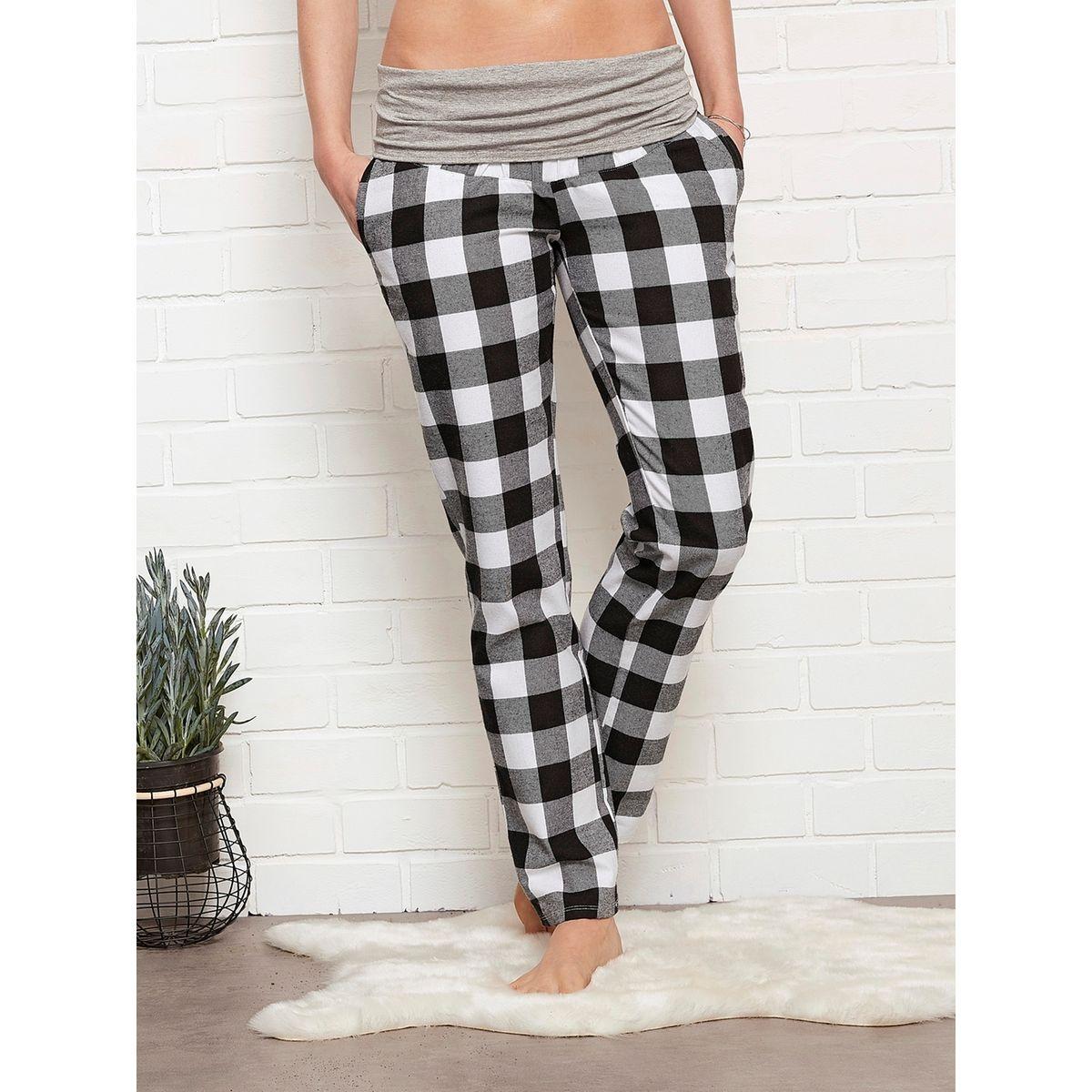Pantalon de pyjama en flanelle de grossesse et post-grossesse