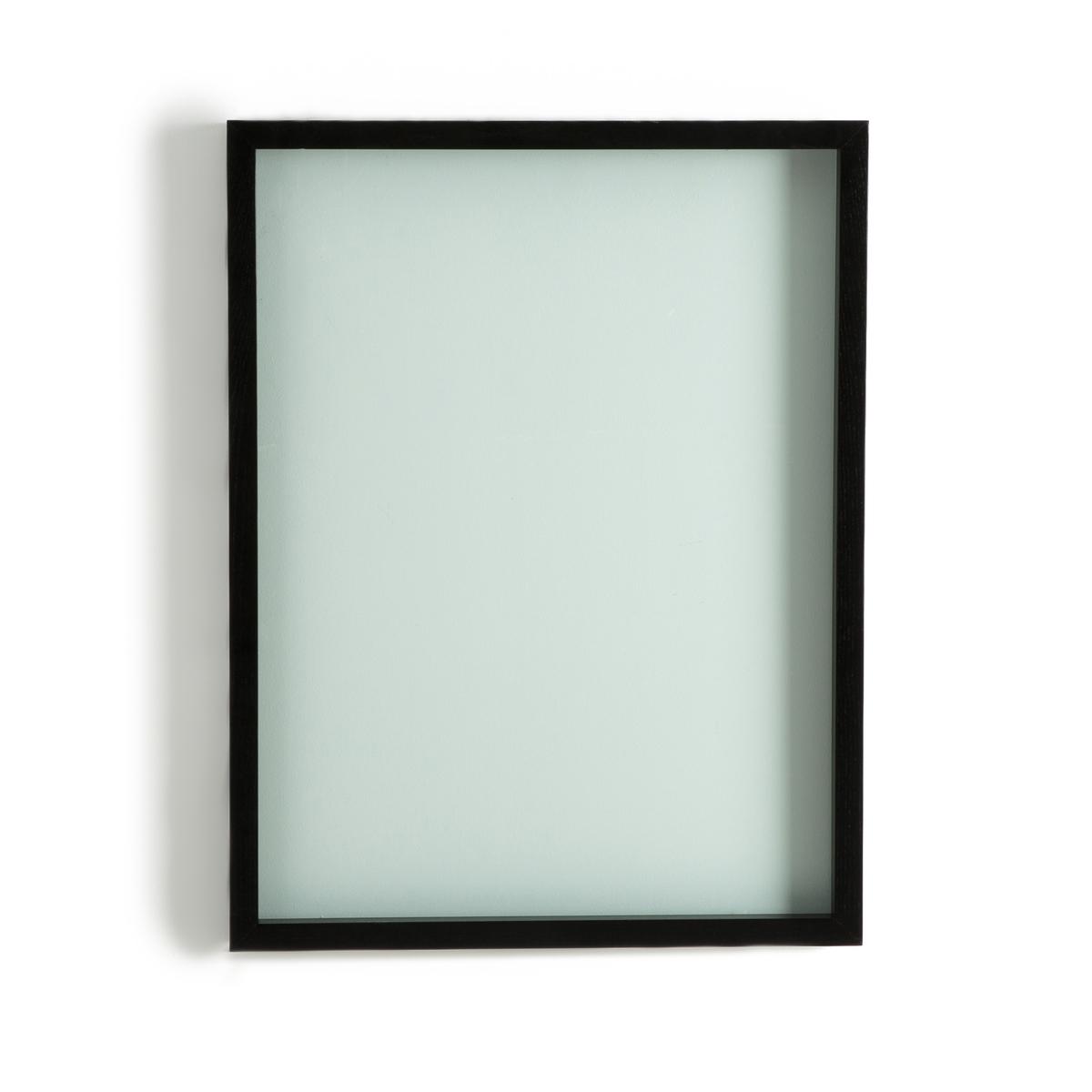 Рамка 3D DidaraРамка 3D Didara. Красивая и оригинальная рамка с двойным стеклом идеальна для размещения Ваших фотографий или растений..... Описание : Рамка из древесины ясеня черного цвета.Двойное стекло: толщина 1,2 см.Размеры - 66 x 86 см<br><br>Цвет: черный