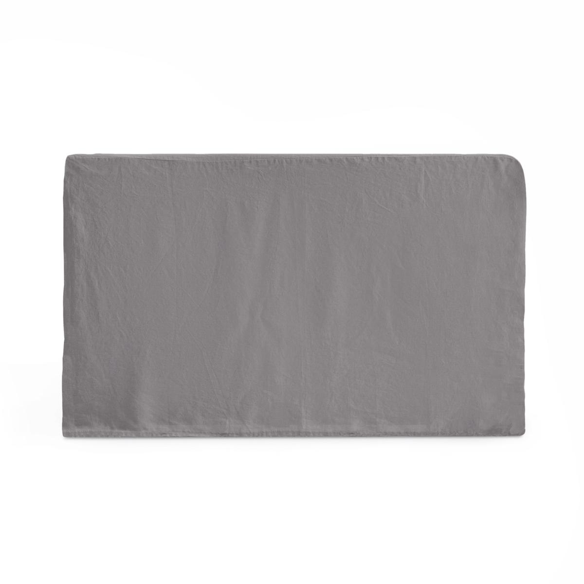 Чехол LaRedoute На изголовье кровати из стиранного льна Abella 140 x 85 см серый